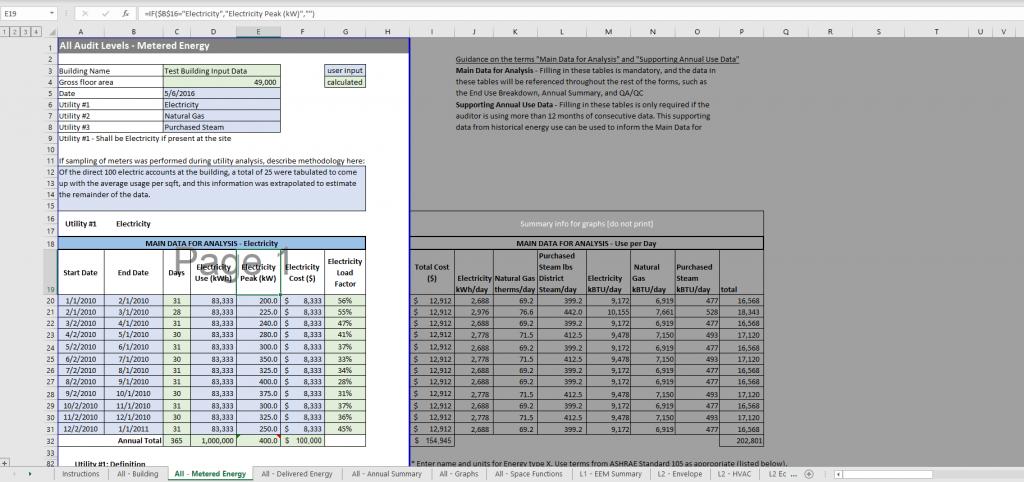 ASHRAE Standard 211 spreadsheet